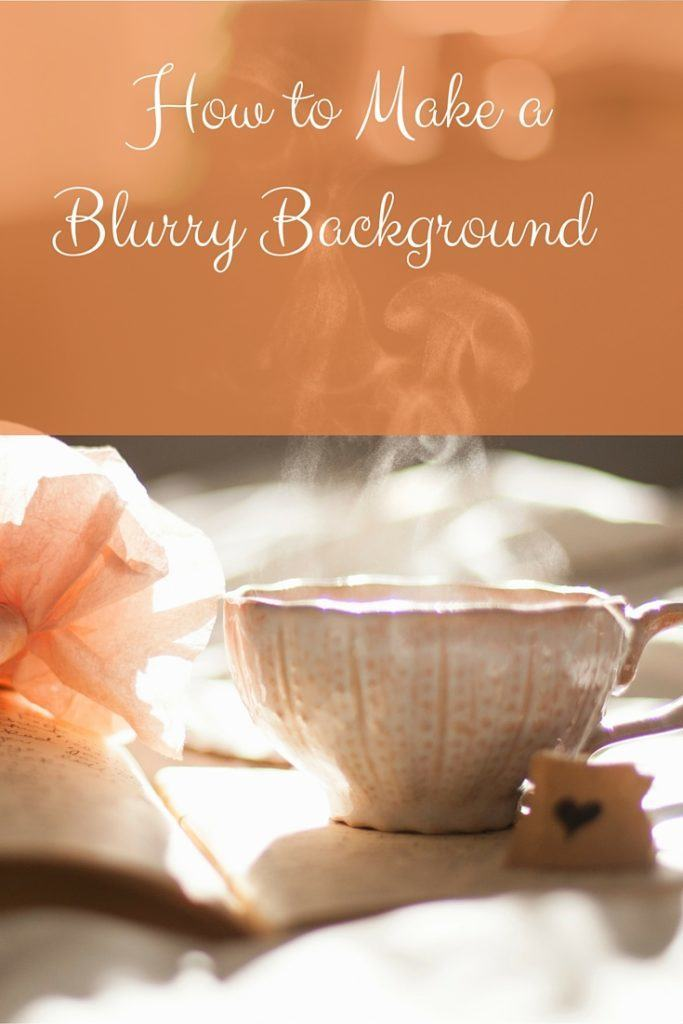 How to make a blurry background