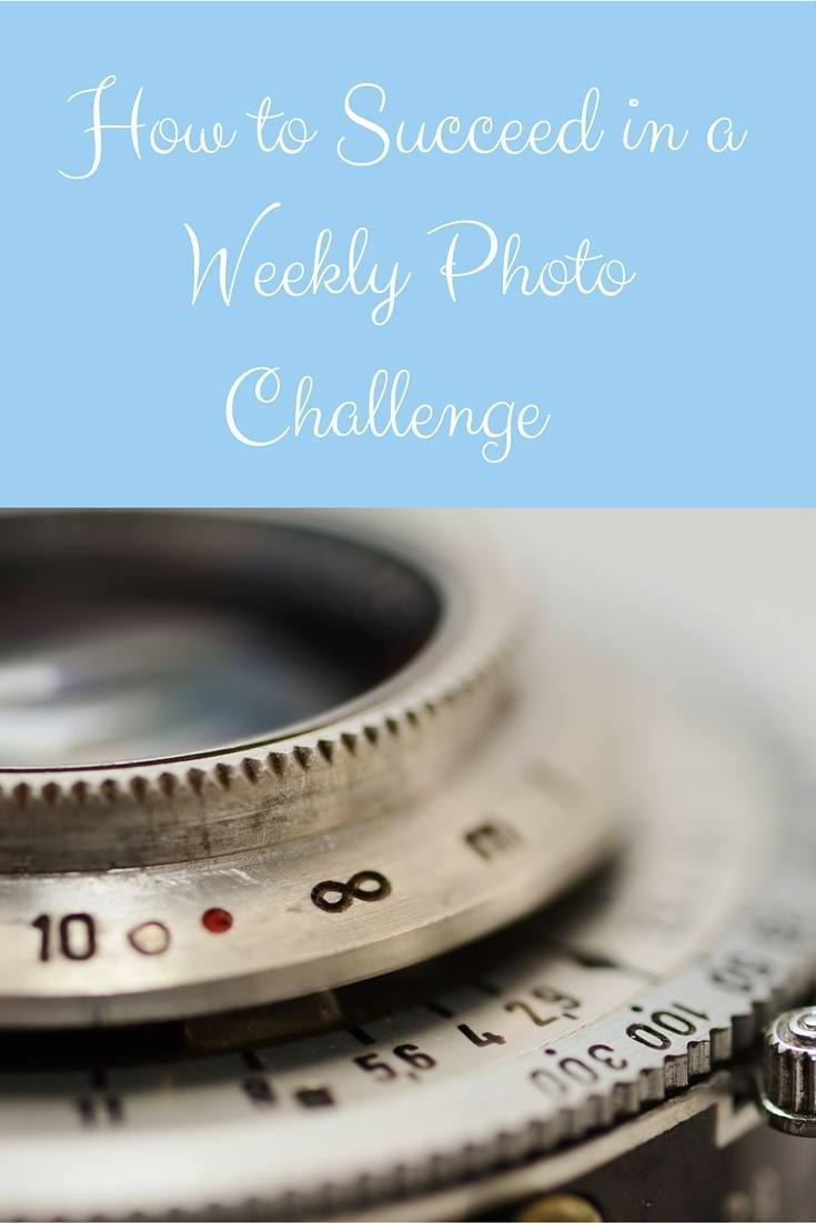 how to succeed in a weekly photo challenge pin